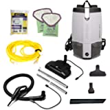 ProTeam W/Electrified Hose Outlet 103224 Cleaner, ProVac FS 6 Vacuum Backpack with HEPA Media Filtration and Commercial…
