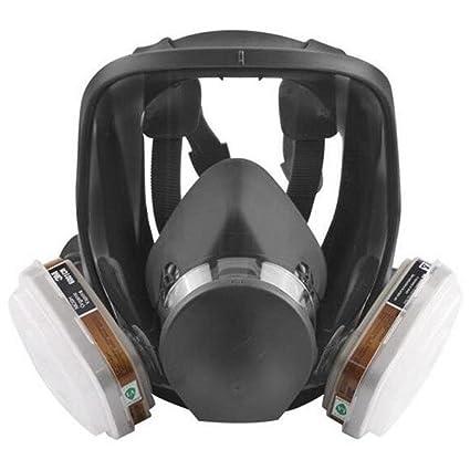Máscara de gas dedicado Industria química de fuego gas pesticida formaldehído polvo Suministros de seguros laborales: Amazon.es: Hogar