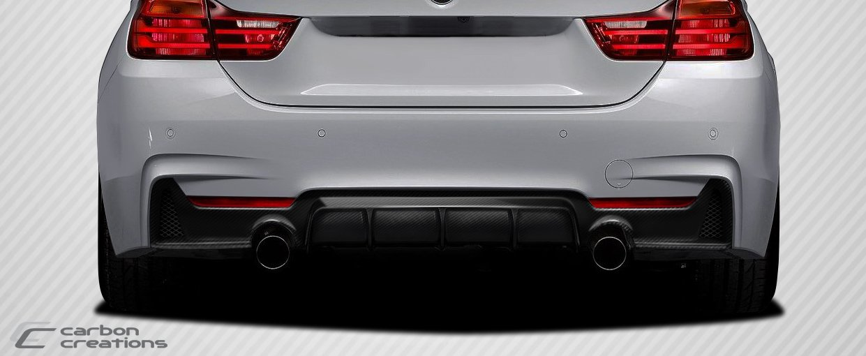 2014-2017 BMW 4 Series F32 Carbon Creations DriTech M Performance Look Rear Diffuser - 1 Piece