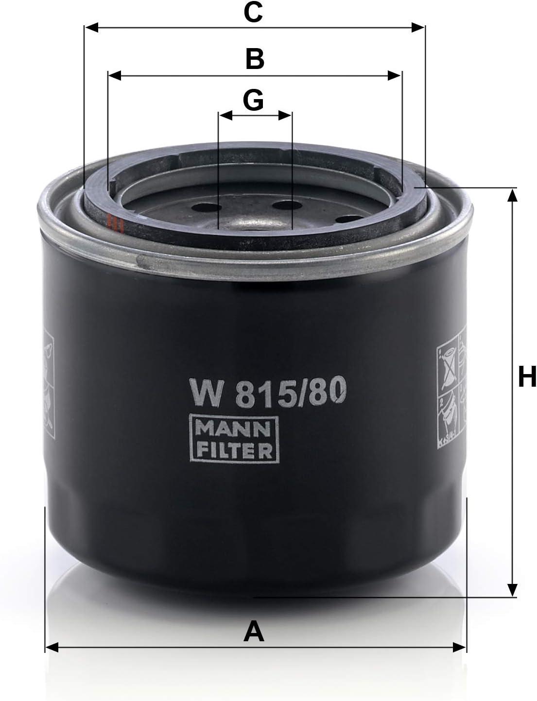 Original Mann Filter Ölfilter W 815 80 Für Pkw Und Nutzfahrzeuge Auto