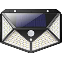 Ibello Luz Solar Exterior Impermeable Foco Solar 100 LED Apliques de Exterior con Sensor de Movimiento 3 Modos de…