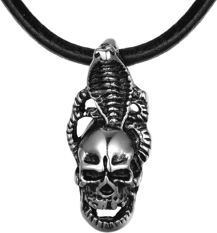 """Esqueleto Colgante Collar//Colgante Con Cordón Negro 18/"""""""
