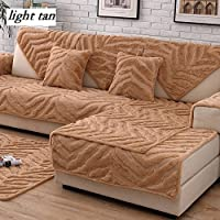 DW&HX Soft Suede Strapless Heavyweight Sofa Slipcover Furniture Protector,Perfect For Pets And Kids 3 Seats Non-slip Quilted Sofa Protector