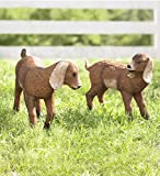 Set of 2 Baby Goats Outdoor Yard and Garden Animal Statues