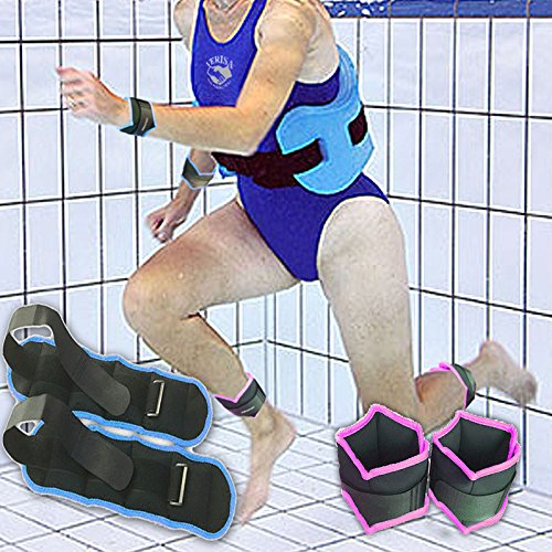 VERISA Ankle Weights (1 Pair) for Women, Men and Kids Fully Adjustable Weight for Arm, Hand & Leg Best for Walking, Jogging, Gymnastics, Aerobics, Swimming