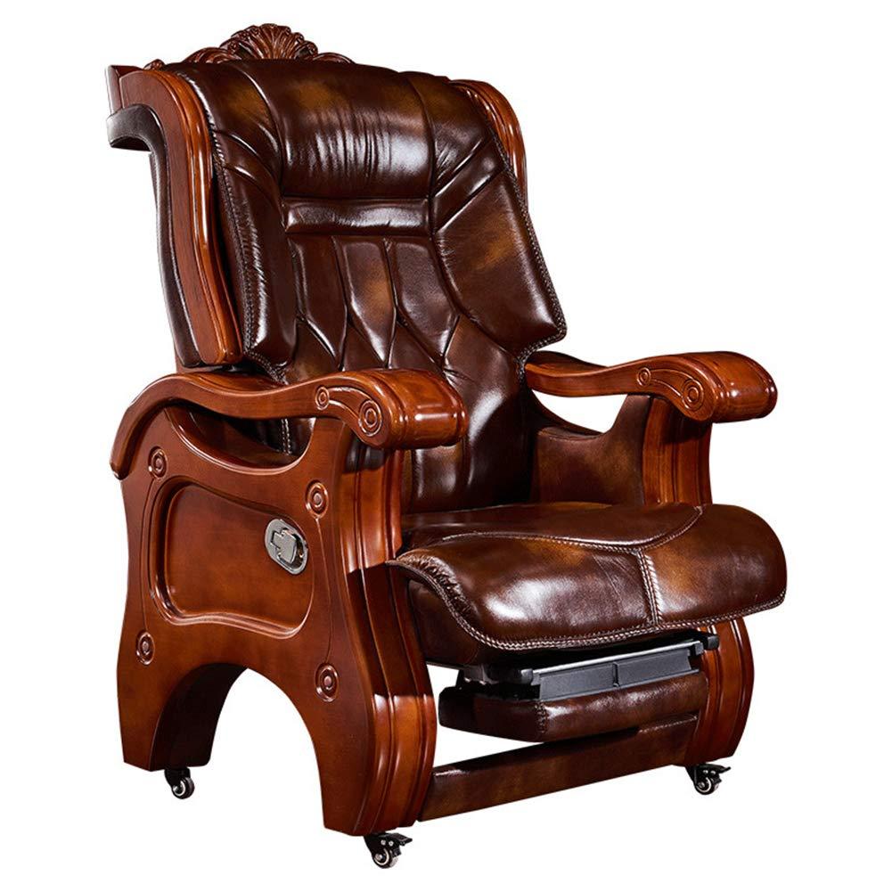 驚きの価格が実現! ボス椅子, ボス椅子, レザーソリッドウッドホームエグゼクティブチェアリクライニングスエード管理椅子ベルトマッサージプレジデントオフィスターンチェアリクライニング引き込み式フットレスト360°度スイベル B07PYX1QH3 B07PYX1QH3, アップルショップ大中2号店:4c8b9089 --- turtleskin-eu.access.secure-ssl-servers.info