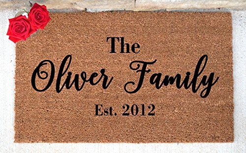 Personalized Doormat - Custom Doormat - Custom Last Name Doormat - Personalized Door mat - Personalized Welcome Mat - Hand Painted Door Mat (Personalized Doormats Family)