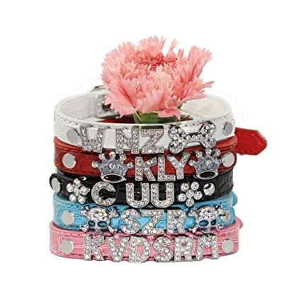 Amazon com : OMYFUN DIY Letters Pet Dogs Collar Personalized Name in