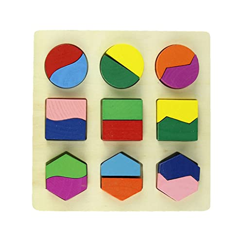 Ouneed® Jeux Casse-tête Puzzle Géométrie pour Enfant Bebe (C)