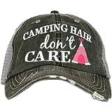 Katydid Camping Hair Don't Care Women's Trucker Hat