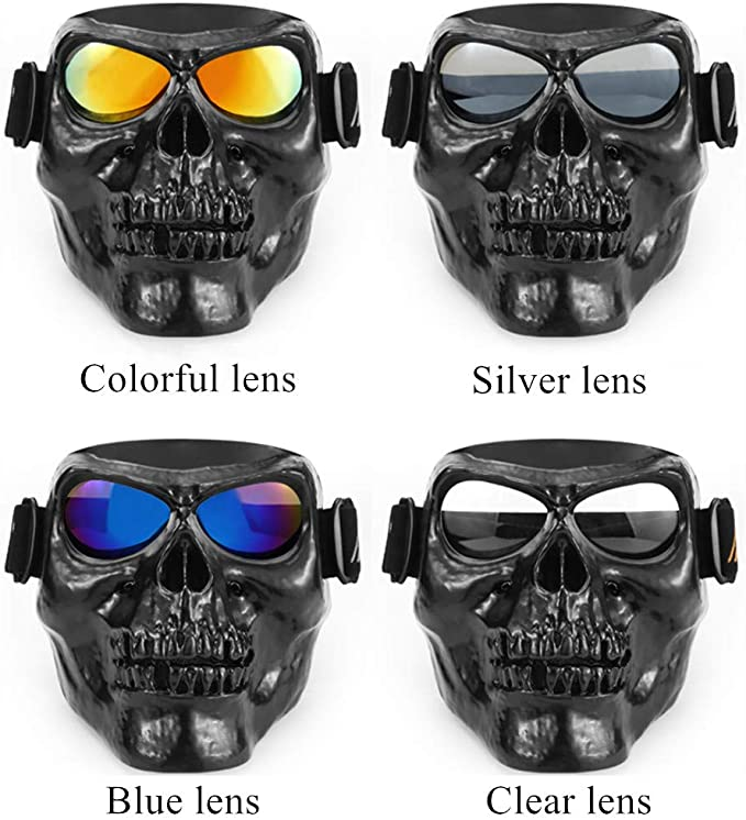 Soldier Printed Adjustable BLACK /& WHITE SKULL w// GLASSES! FREE USA SHIPPING!!