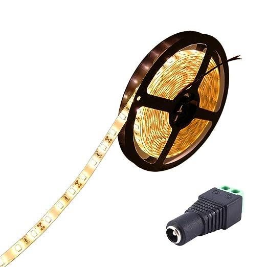 JOYLIT Striscia LED Bianco caldo 3000-3500K SMD5630 300led IP65 ...