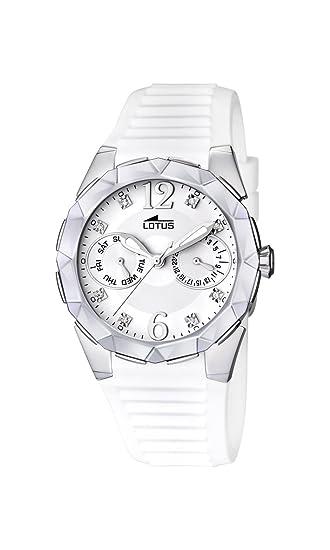 d9baf2e57890 Lotus 15731 1 - Reloj analógico de cuarzo para mujer con correa de caucho