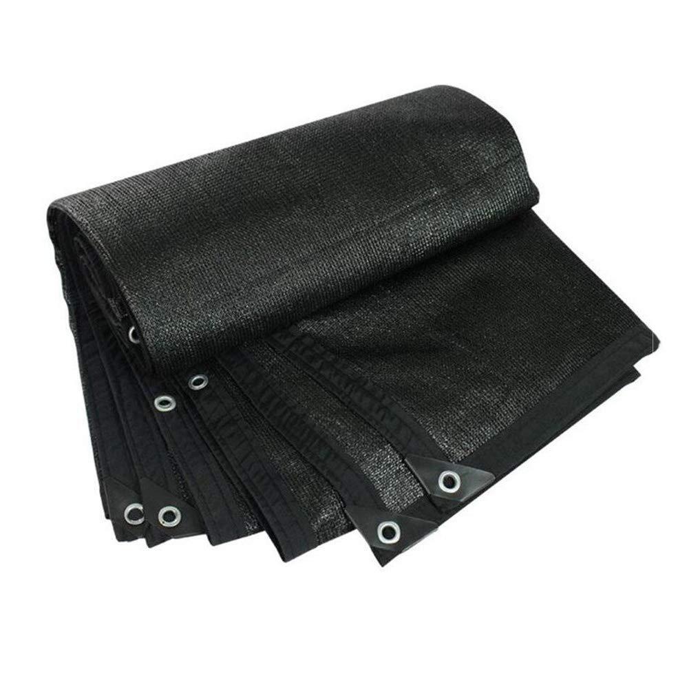 LIXIONG オーニングシェード遮光ネット 日焼け止め 通気性のある 吸熱 抗UV 耐寒性 パティオ 、カスタマイズ可能なサイズ (色 : 黒, サイズ さいず : 5x10m) 5x10m 黒 B07GFMRPP2