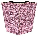 WB803 -Pink Leopard Wastepaper Basket