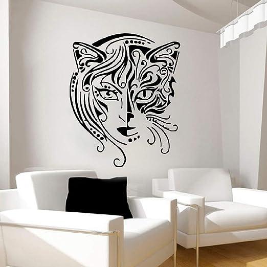 jiuyaomai Diseño Creativo Gato Mujeres Etiqueta de la Pared Sala ...