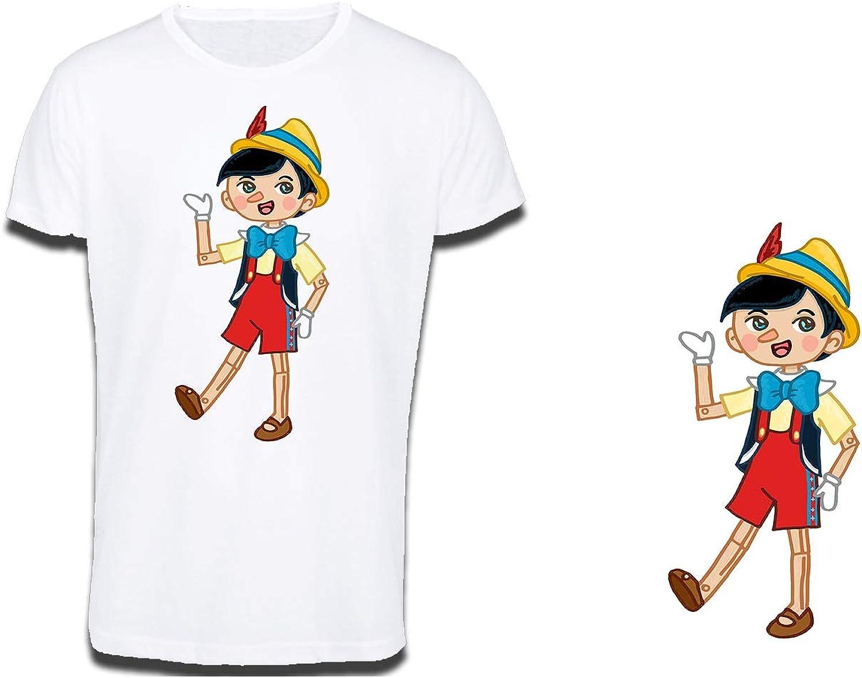 MERCHANDMANIA Camiseta Tacto ALGODÓN A3 PINOCHO NIÑO DE Madera Cotton Touch Tshirt: Amazon.es: Ropa y accesorios