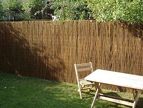 Nature LOUNGE Weidenmatte 120 x 300 cm - Hochwertiger Weiden Sichtschutz Zaun - Weidenzaun Matte für Haus, Garten und Balkon