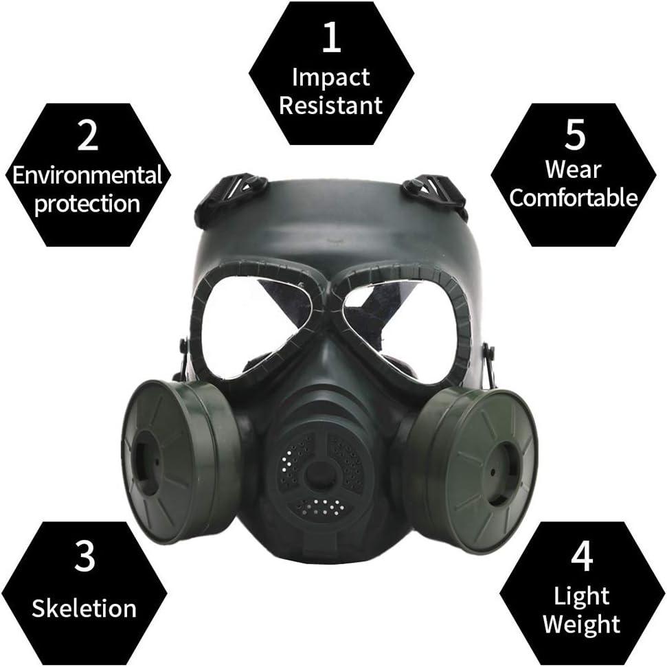 Vollgesichtsmaske aus Stahlgewebe paintball poli/éster OAREA Gorra t/áctica para airsoft Sturmhaube Jagd CS-Maske Radsport-Schutzhelm