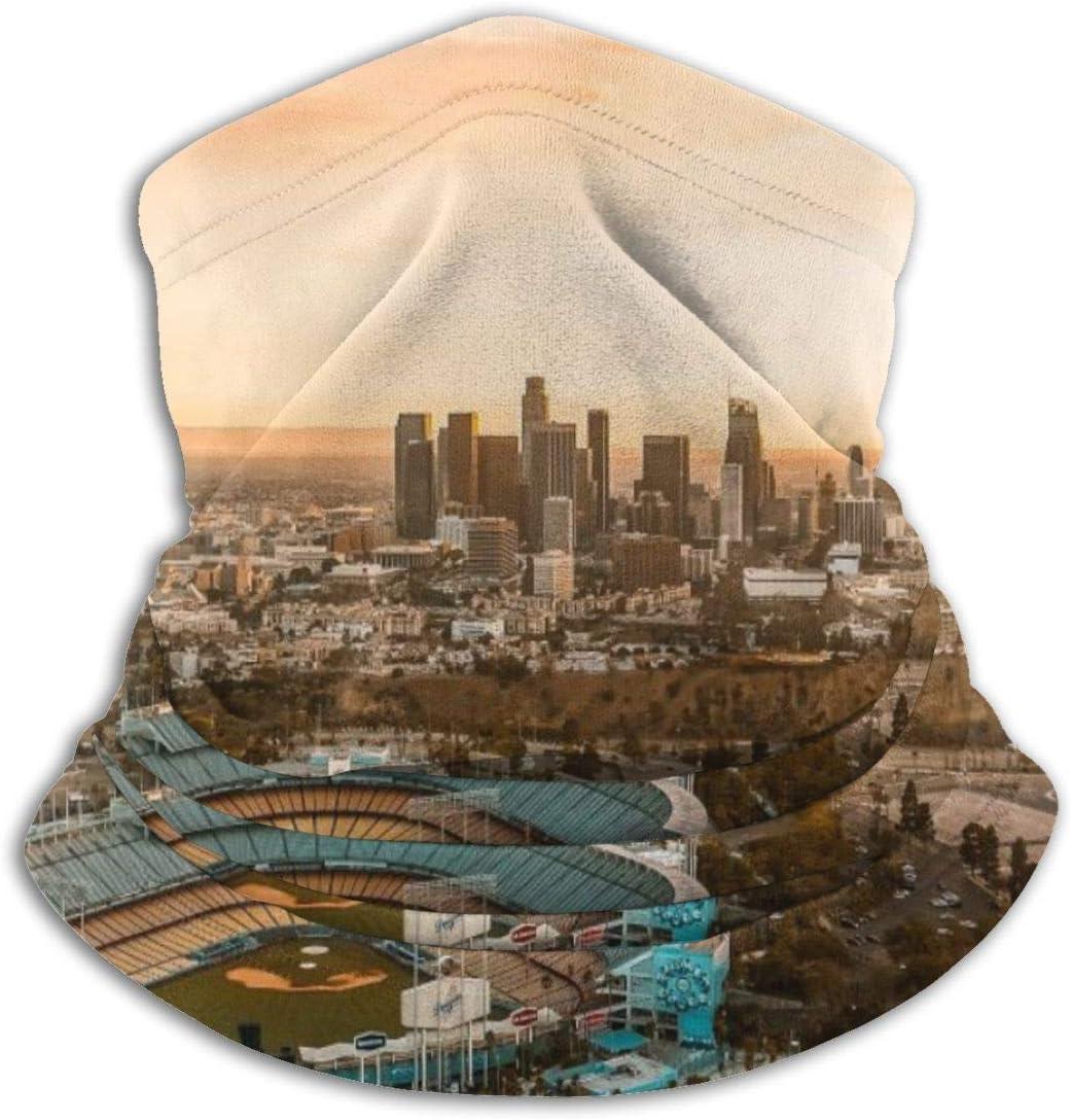 Aerial View Of The Dodgers Stadium Dust Sun Protection Cool Lightweight Windproof Unisex Seamless Rave Bandana Neck Gaiter Tube Headwear Bandana Summer UV Protection Neck Gaiter Face Scarf Mask