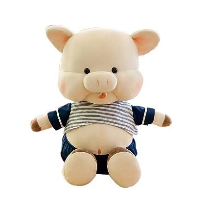 per Peluche para Bebés Recién Nacidos Muñecas de Fela de Cerditos 30cm para Regalo de Cumpleaños