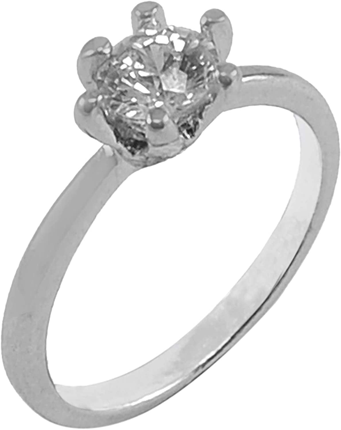 Silvestoo Jaipur Cubic Zircon 925 Silver Plated Ring Size 7.75 PG-127799