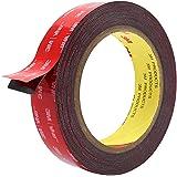 Double Sided Tape, HitLights 3M Mounting Tape Heavy Duty, Waterproof Foam Tape, 16FT Length, 0.94 Inch Width for Car, LED Str
