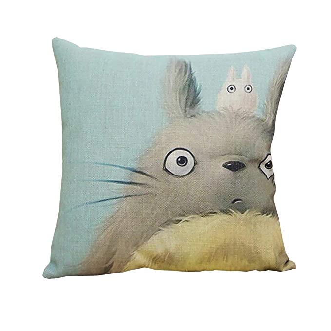 Amazon.com: Vintage Cartoon Blend Decoration Pillow Case ...