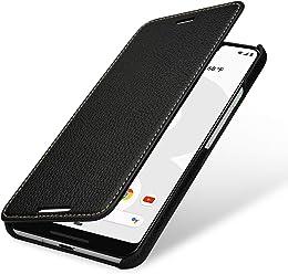 StilGut Housse pour Google Pixel 3 XL Book Type en Cuir, Noir