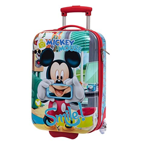 Disney Mickey Smile Equipaje de Mano, 40.7 litros, Color Azul