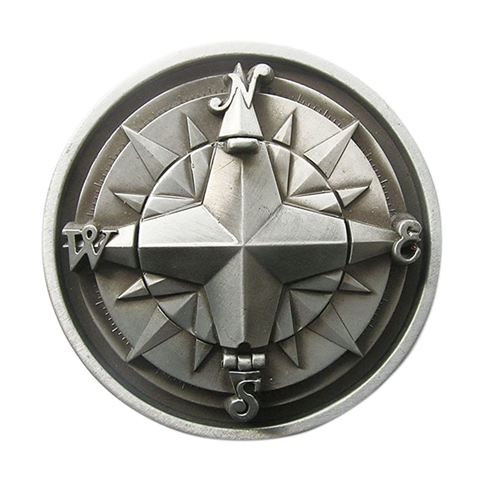 New Vintage Original Compass Star Belt Buckle Gurtelschnalle