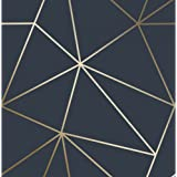 I Love Wallpaper Zara Shimmer Metallic Navy Gold ILW980116