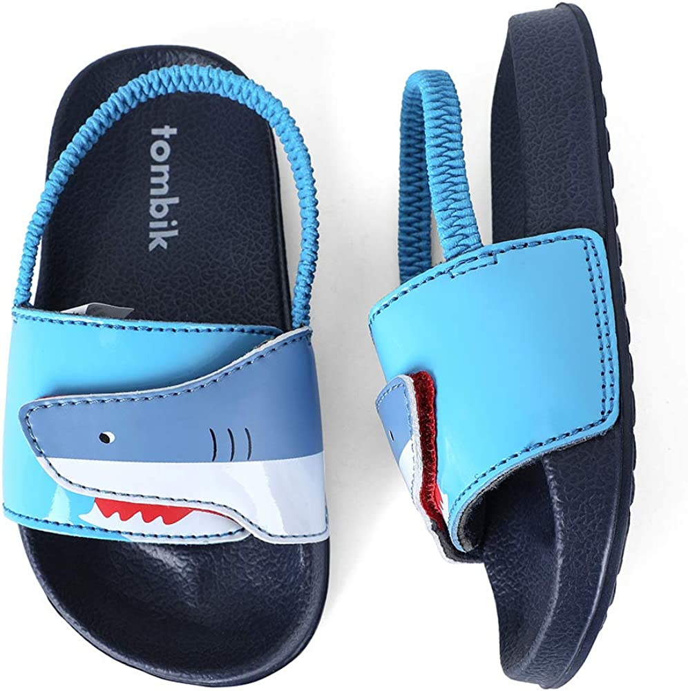 tombik Toddler Boys & Girls Beach/Pool Slides Sandals | Kids Water Shoes