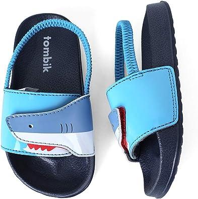 Rainbow Colorful Sharks wear-Resistant Lightweight Mens Slides Sandal