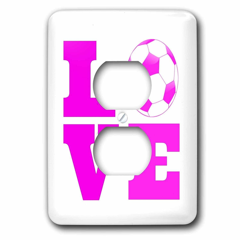国産品 3drose 6 LSP_ Love 200770_ 6 Love Soccerピンクホワイト2プラグコンセントカバー_ B00OMBUAZS, サガミコマチ:4990144e --- svecha37.ru