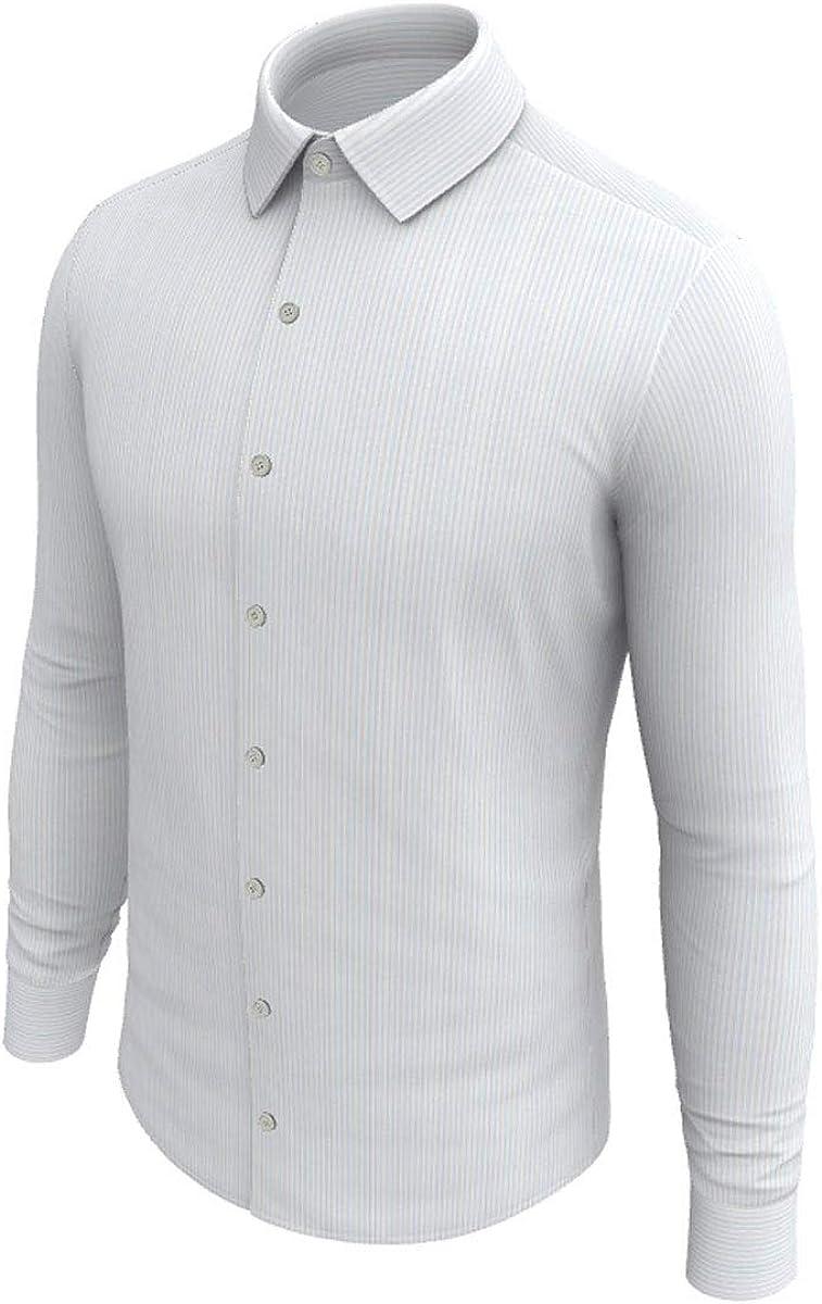 Camisa Hombre Manga Larga de Vestir Estampado Entalle Medium ...