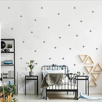 Plus Kreuz Wandtattoo Set Wandaufkleber Wandsticker Kinderzimmer Wandaufkleber Babyzimmer Wanddeko Grau Amazon De Baumarkt