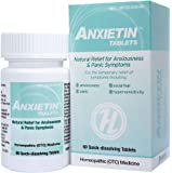 HelloLife Anxietin Tablets - Anxiousness & Panic Symptom Relief - for The Safe, Temporary Relief of: Episodes of…