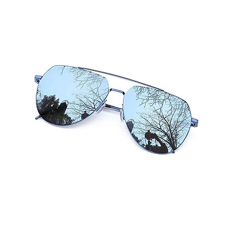 Occhiali Da Sole Occhiali Pilota Occhiali Da Aviatore Occhiali A Specchio Argento Verde Blu