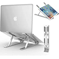 "Lolo Soporte para Laptop Base Ajustable para Laptop Stand Portátil Aleación de Aluminio Estable para Macbook Air, MacBook Pro,HP,DELL,Acer,Huawei, y Otro computadora portátil Ordenador 9"" hasta 15.6"""