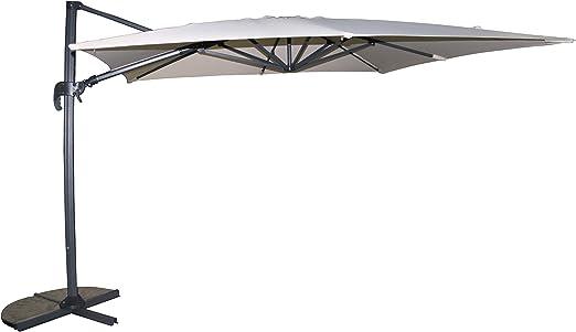 Girevole a 360/° Rigamonti Ombrellone 3x4 in aluminio e Poliestere