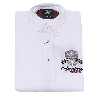 Beverly Hills Polo Club 7596K Camicia uomo White Shirt Cotton Man ...