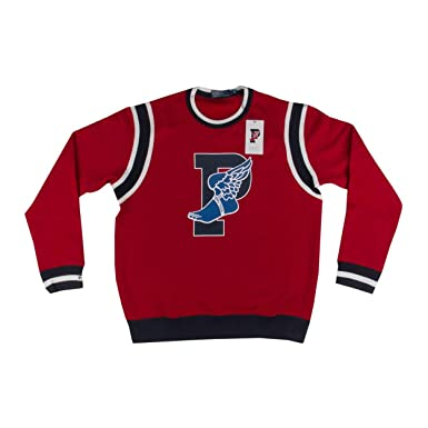 49daee868 Polo Mens 1992 Stadium Collection P Wing Crew Neck Sweater Red Blue
