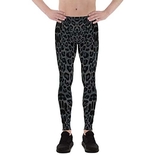 61d3c04f Black Panther Leopard Cougar Leggings for Men Animal Print Gym Workout  Pants Meggings