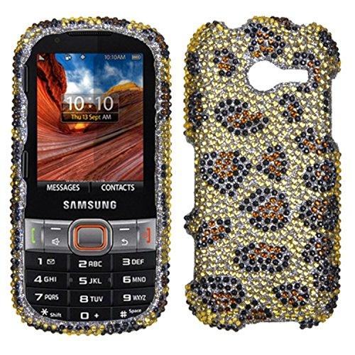 Asmyna SAMM390HPCDM113NP Premium Dazzling Diamond Diamante Case for Samsung Array/Montage M390 - 1 Pack - Retail Packaging - Leopard Skin