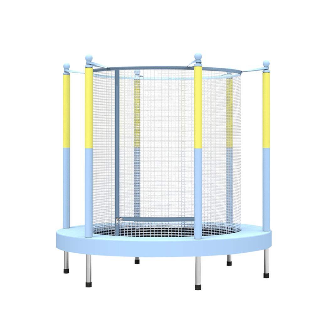 Indoortrampoline Rundes Trampolin Indoor-Sprungbett Netz Kind Erwachsene Kinder springen Bett Outdoor Bungee Jumping Bett Fitness Gewichtsverlust, hohe Belastung (Farbe : Blau, Größe : 50inch)