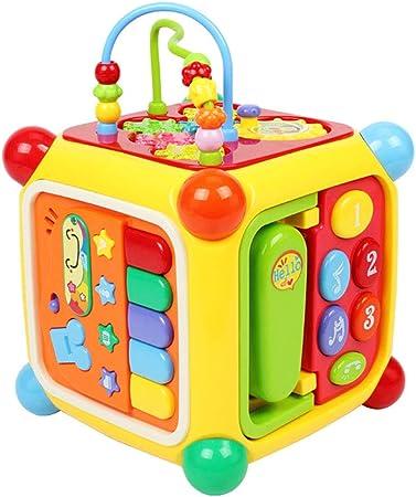 Cajas de música Juguetes educativos para niños Mesa de juegos multifunción 0-1-3 años de edad Seis lados Entretenimiento Juguetes musicales Juego multifacético Juguetes interactivos dan a los niños el: Amazon.es: Hogar
