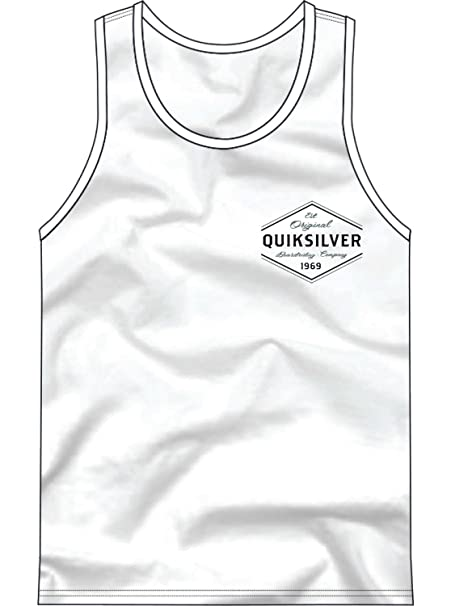 b5c255fff1616 Amazon.com  Quiksilver Men s Logo Tank Top Tee Shirt  Clothing