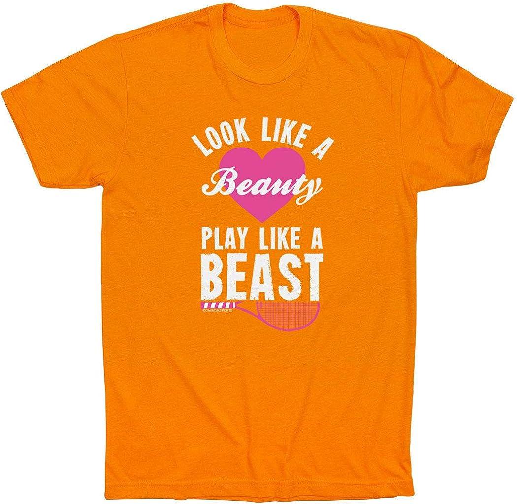 Look Like A Beauty Play Like A Beast T-Shirt Tennis Tees by ChalkTalk SPORTS