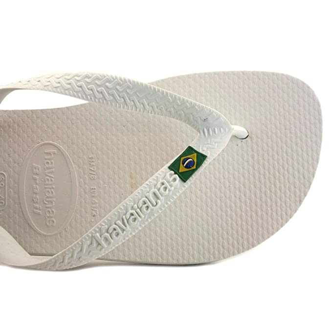 Brasil Mix Mens Synthetic Flip Flops White - 43/44 Brazilian Havaianas PJ2FU2t2f